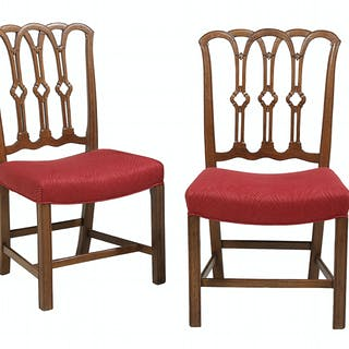 Pair of Bench-Made George III-Style Mahogany Side Chairs