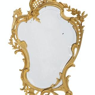Louis XV-Style Gilt-Bronze Boudoir Mirror