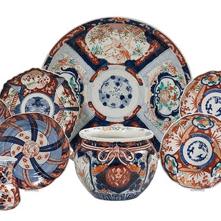 Eleven-Piece Collection of Imari Porcelain