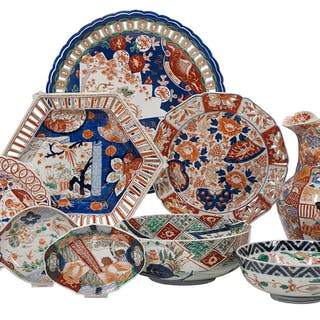 Nine-Piece Collection of Imari Porcelain