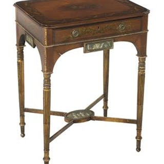 Late George III Polychrome Side Table