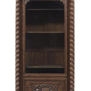 Henri IV-Style Oak Bibliotheque