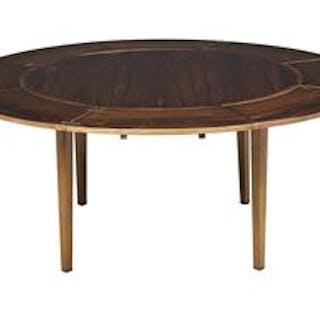 Unique Rosewood Circular Horseshoe Dining Table