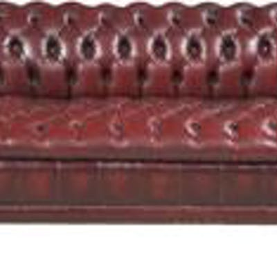 Edwardian-Style Leather Chesterfield Sofa