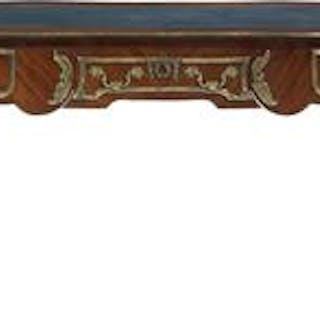 Louis XV-Style Ormolu-Mounted Mahogany Bureau Plat