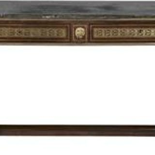 Empire-Style Mahogany and Marble-Top Side Table