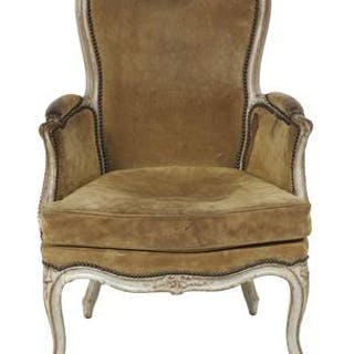 Louis XV-Style Painted Bergere
