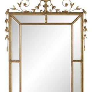 Adam-Style Giltwood Mirror