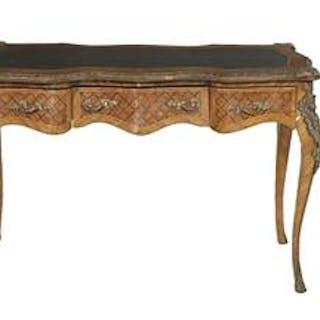 Louis XV-Style Kingwood Bureau Plat