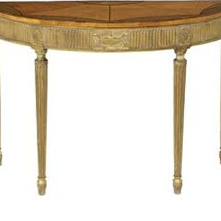 George III Satinwood and Giltwood Side Table
