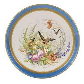 Paris or Limoges Porcelain Platter