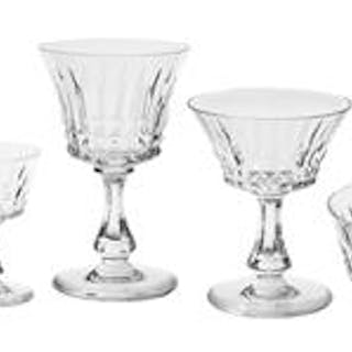 "Partial Service of Baccarat ""Balmoral"" Cut Crystal Stemware"