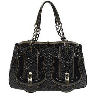"""Fendi Black Patent Leather """"B. Bag"""""""