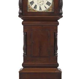 Large William IV Mahogany Tall Case Clock