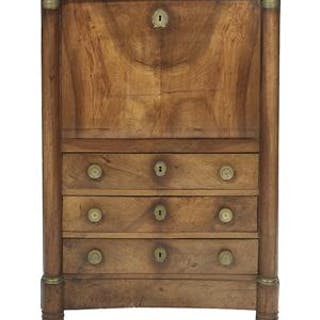 Empire Bronze-Mounted Fruitwood Secretaire a Abattant