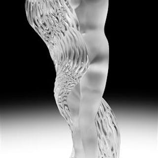 Lalique Frosted Crystal Figure of a Water Nymph