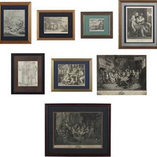 Collection of Eight Old Master Prints