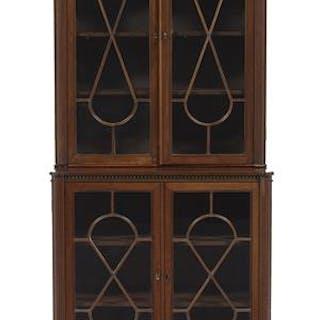 Victorian Mahogany Bookcase/Vitrine