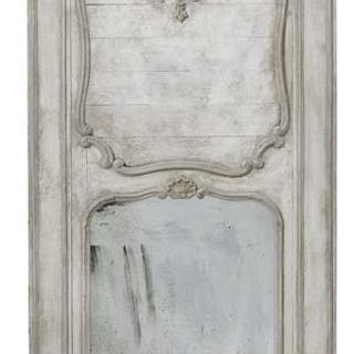 Louis XV-Style Painted Trumeau Mirror