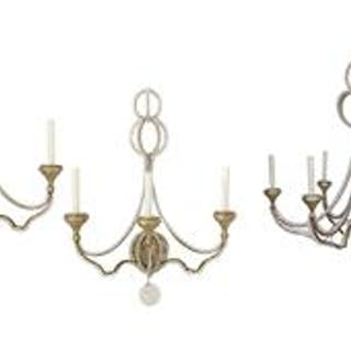 Niermann Weeks Danieli Chandelier with a Pair of Matching Sconces