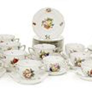 "Collection of Herend ""Fruits and Flowers"" Dinnerware"