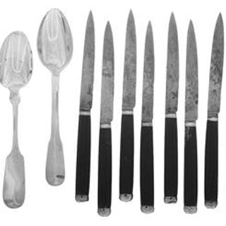 Eighteen Pieces of New Orleans, French Silver and Other Flatware
