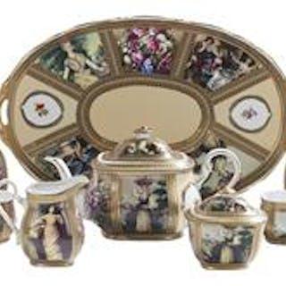 """Limoges China"" Tea Set"