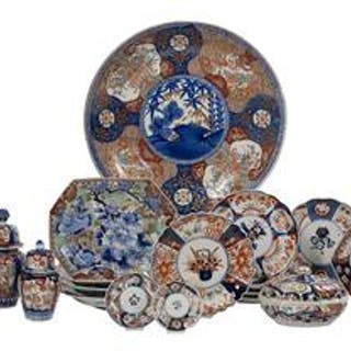 Eighteen-Piece Collection of Imari Porcelain