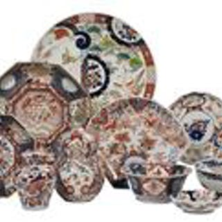Sixteen-Piece Collection of Imari Porcelain