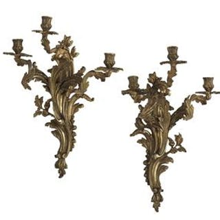 Pair of Louis XV-Style Bronze Sconces
