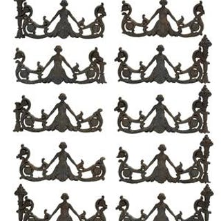 Collection of Eleven Cast Iron Architectural Fragments