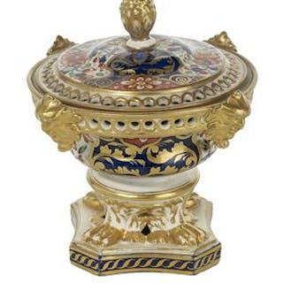 Derby Porcelain Potpourri Vase