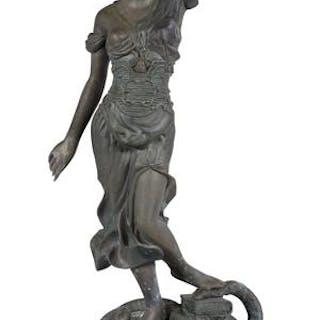 Bronze Figure of Lady Justice
