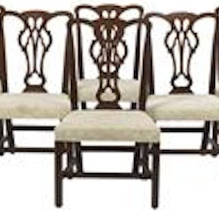 Suite of Eight George III-Style Mahogany Dining Chairs