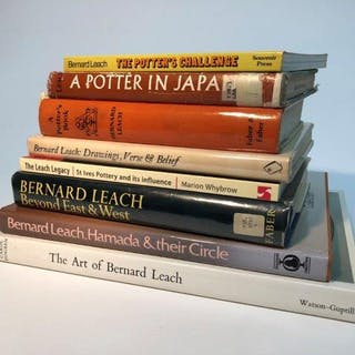 Bernard Leach, sixteen assorted volumes to include A Potter in Japan