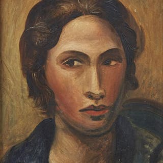 Andre Derain, French 1880-1954- Portrait de Femme (Portrait of a Woman)