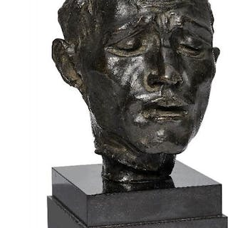 After Auguste Rodin, French, 1840-1917, bronze bust of a man, possibly