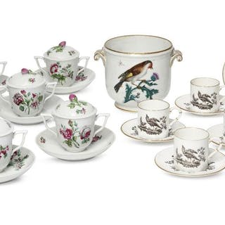 A set of six Herend porcelain custard cups and covers, 20th century