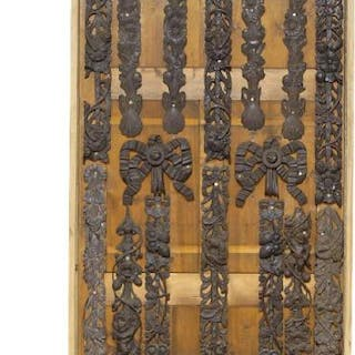 A collection of eighteen Continental carved oak mouldings, 19th century