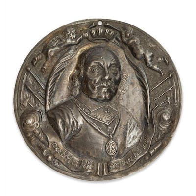 A Dutch silver medal commemorating the death of Admiral Maarten Harpertszoon