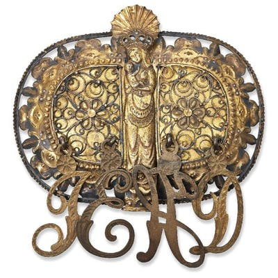 A Continental silver-gilt ecclesiastical buckle, probably Spanish