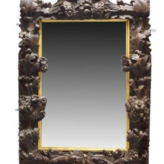 A large Baroque Continental carved rectangular frame, first half 18th