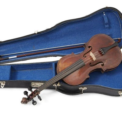 A violin, probably German, late 19th century, bearing label to interior