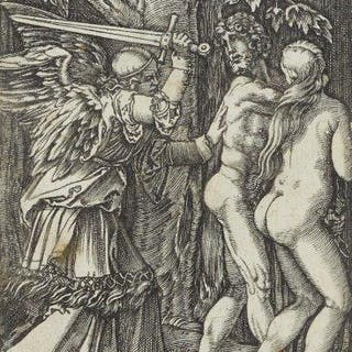 Marcantonio Raimondi, Italian 1480-1527- The Expulsion from Paradise
