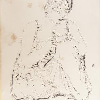 Pierre Bonnard, French 1867-1947- Writer, 1937; Lithograph on wove
