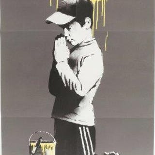 Banksy, British b.1974- Forgive Us Our Trespassing, 2010; offset lithograph