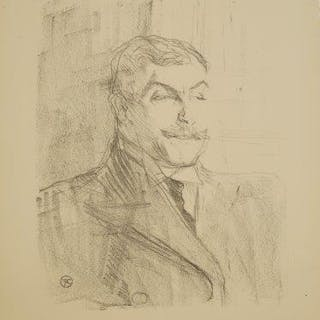 Henri de Toulouse-Lautrec, French 1864-1901- Lucien Guitry [Adriani