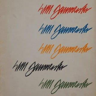 Willi Baumeister, German 1889-1955- Pamphlet with Untitled abstract