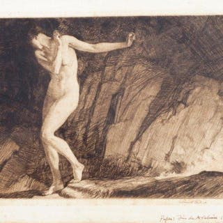 Sir William Russell Flint RA, Scottish 1880-1969- Eve, 1930; drypoint
