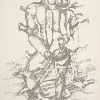 Ossip Zadkine, Russian/French 1890-1967- Euripides. The works of Heracles